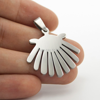 new 100 pcs jewelry smooth sides polished Pendant stainless steel Metal Necklace Pendant for men women wholesale price