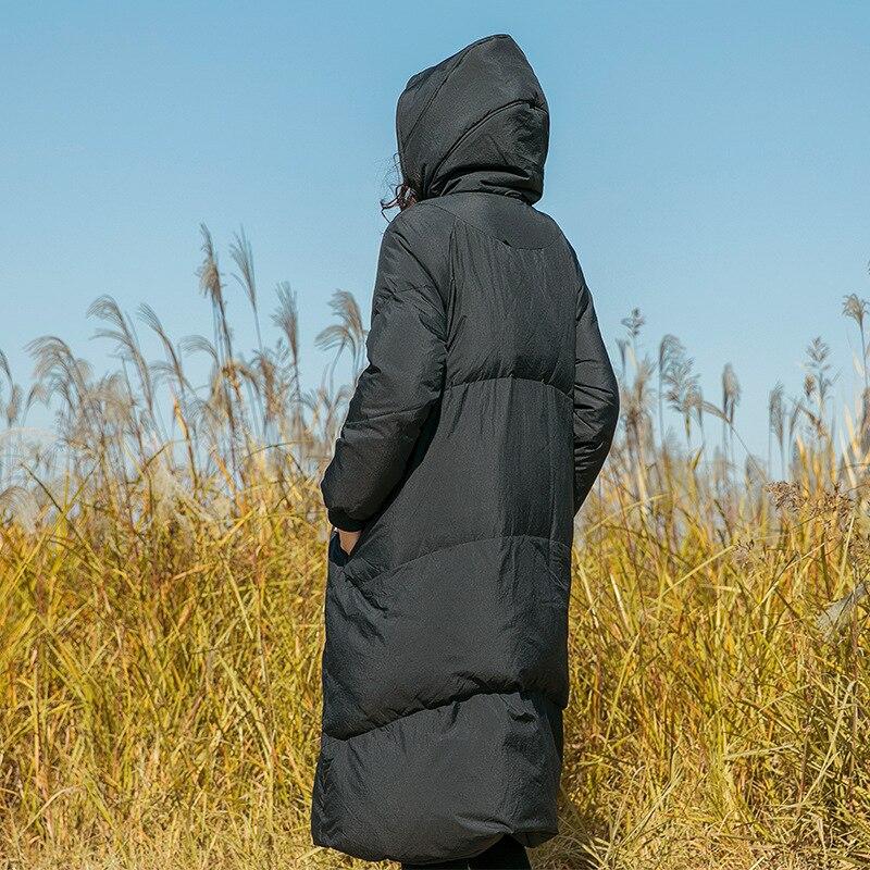 Épais Tops Le Capuche Vers Femmes Noir À Dames Canard De Duvet Grande Chaud Rétro Manteau Taille Blanc orange Hiver Bas Veste Mélangé xZ8Txw