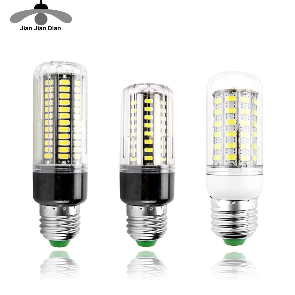 LED Corn Bulb E27 E14 LED Lamp 24 36 48 56 69 72 LEDs Lampada Chandelier Candle LED Light SMD5730 220V For Home Decoration
