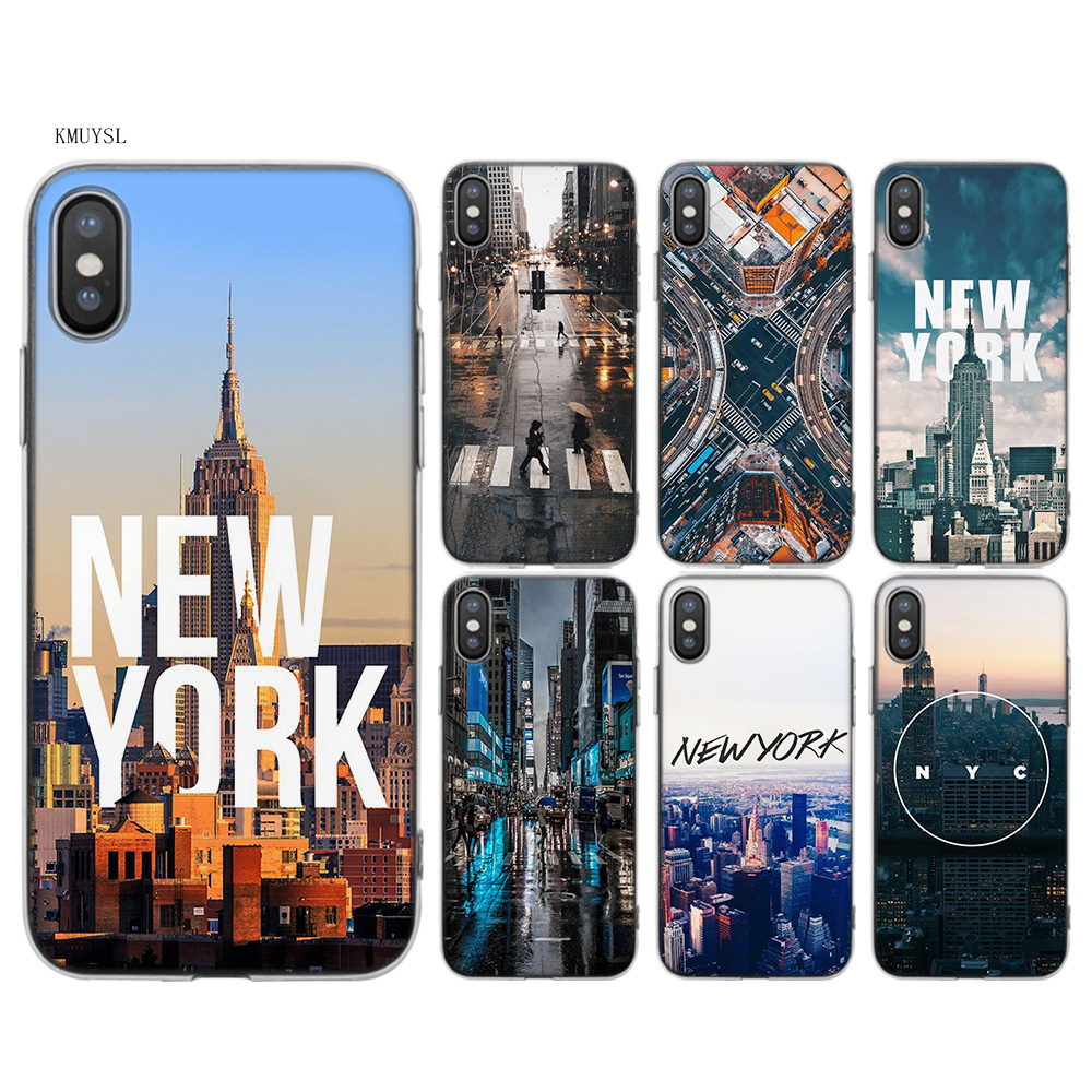 b6877b925bf Cover for iPhone X 7 8 6 6 s Plus 5 5S SE 5C Coque york TPU Transparent  Soft Silicon