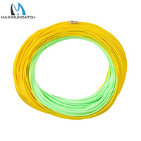 Maximumcatch WF4 5 6 7 8F 100FT Double Color Floating Fly Fishing Line With Welded Loops