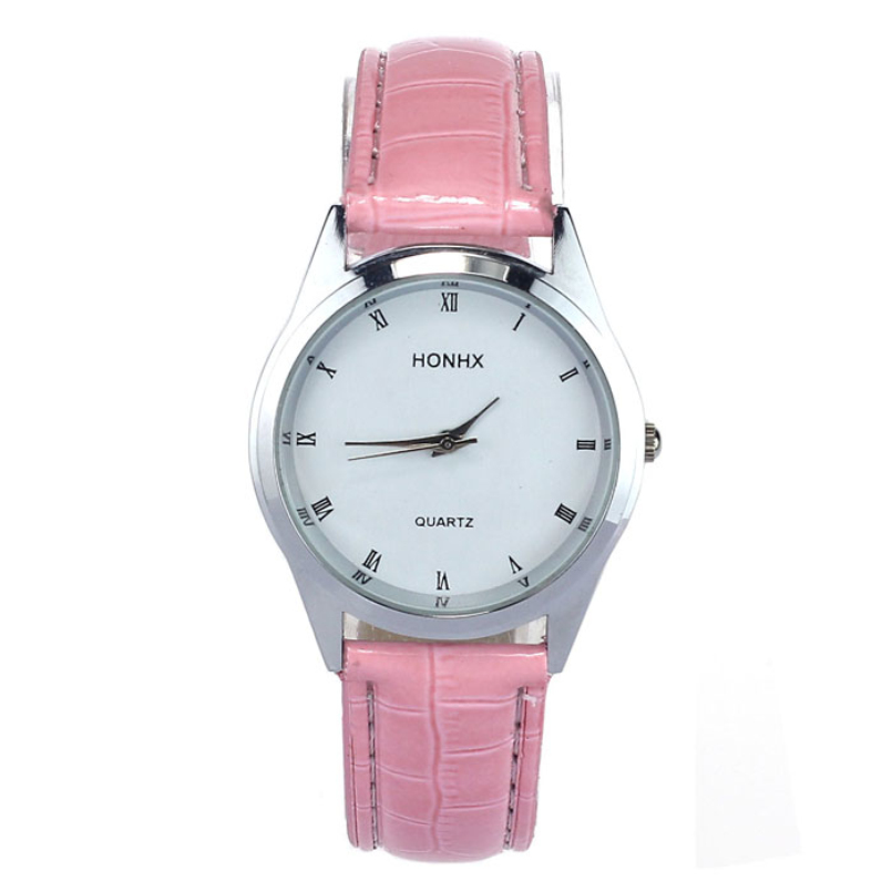 Excellent Quality New Fashion Watch Steel Case Women Leather Quartz Analog Wrist Watch Lady Dress Watch Relogios Feminino