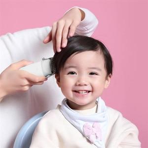 Image 3 - Xiaomi mitu dla dzieci elektryczna maszynka do strzyżenia włosów biały ceramiczny głowica do cięcia niski poziom hałasu profesjonalne IPX7 wodoodporne dzieci maszynka do włosów clipp