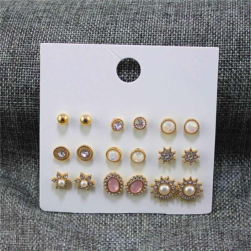 Ohrringe Enze Mode Neue Frauen Set Ohrringe Gemischte 9 Paare/satz Von Runde Sterne Schneeflocke Nachahmung Perle Schmuck Zubehör Großhandel Kaufe Jetzt