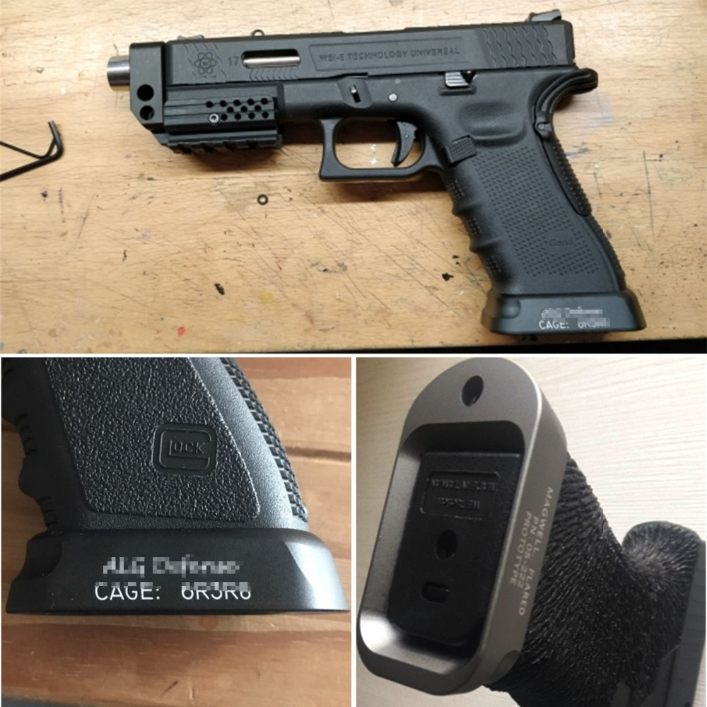 US $16 1 54% OFF|Aliexpress com : Buy Tactical ALG Defense Flared Magwell  For Pistol Airsoft Gen3 Glock 17 18C 24 31 34 35 Speed Loader Mount Hunting
