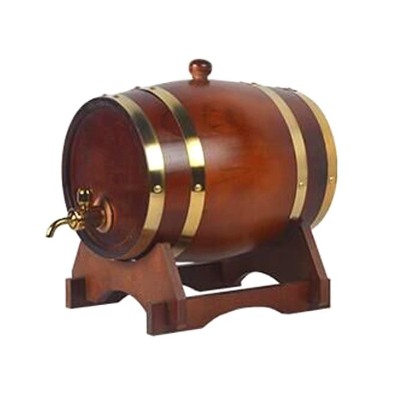 15L wood cask wine barrels Oak Barrels Pine Wooden Barrel Keg Cask