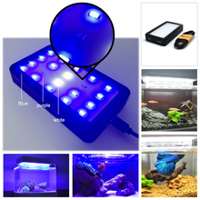 Blue LED Light for Fish Tank Cylinder Dedicated Coral Lights Aquarium Accessories Mini Plastic