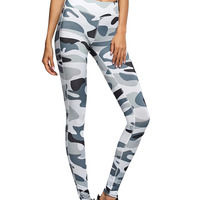 S QVSIA 2017 New Women Fashion Pants Camouflage Print Sexy Slim Fit Bottoms Elastic Fitness Leggings