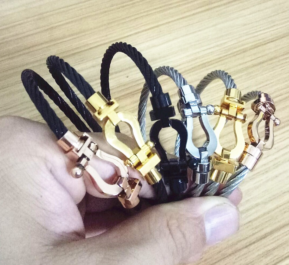 U shaped magnet buckle belt hooves bracelet women Men lovers bracelets pulseras con ancl ...