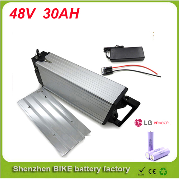 lithium battery 48v 30AH battery electric bike rear rack battery 48v 1000W bike lithium battery power  with Use LG 18650 cell