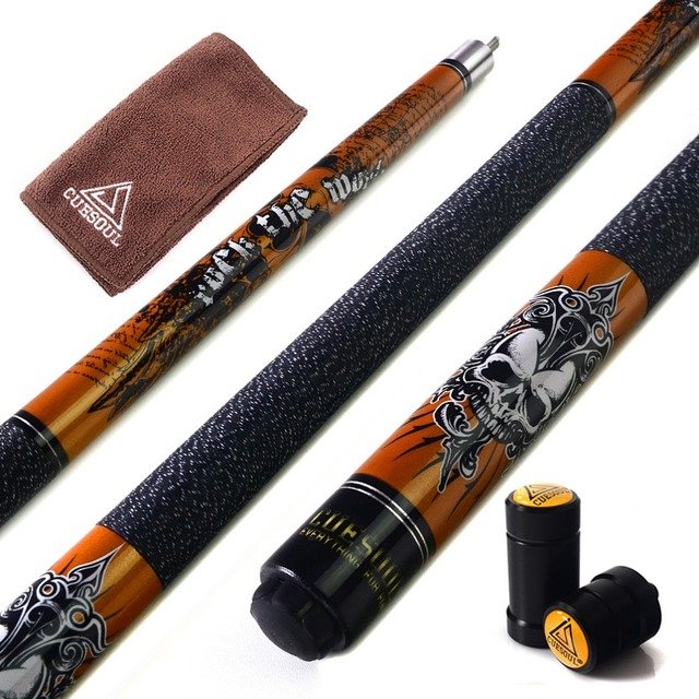 CUESOUL New Coming Rockin Series Maple Pool Cue Stick Set with Blue Carrying Cue Bag - 57 2