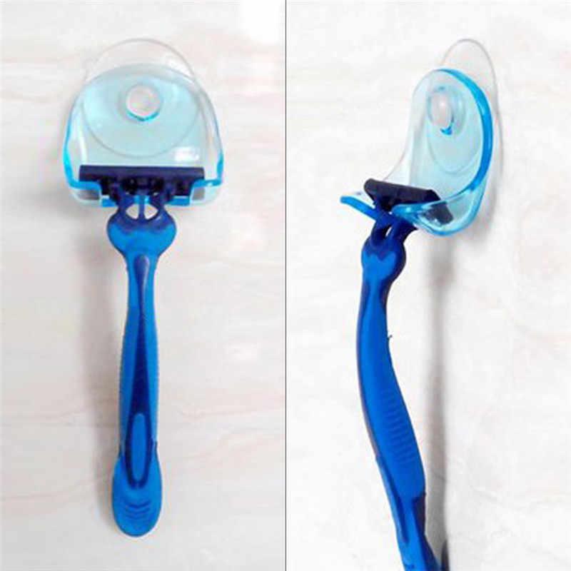 3 sztuk/zestaw przyssawka golarka stojak przechowywania Super przyssawka stojak uchwyt do golenia ściany hak wieszaki ręcznik frajerem łazienka narzędzie