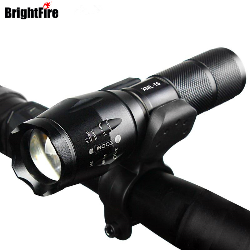 Professional Waterproof 3800LM Bicycle Light Torch Zoomable LED Flashlight Bike Light With Torch Holder powerful led flashlight bicycle light 2000 lumens 3 mode cree q5 led bike light front torch waterproof xp 6 torch holder zk93