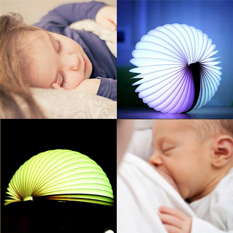 Book night light LED 7 Colors Book Light Lamp Remote Control Night Light USB Desk Table Decor Holiday gift #4m10 (3)