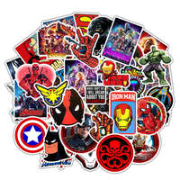 50 PCS New Avengers Stickers Marvel Super Hero Sticker Skateboard Luggage Stickers For Laptop Motorcycle Waterproof Toy Sickers