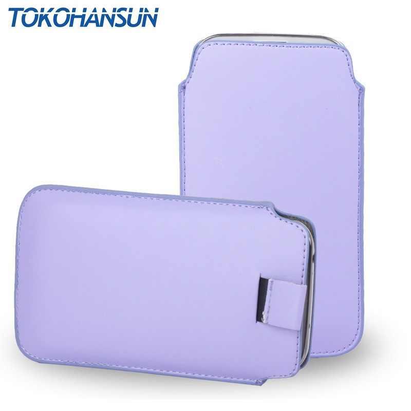 TOKOHANSUN אוניברסלי טלפון מקרה עבור פיליפס Xenium W6610 W6618 X598 S395 S327 X596 עור מפוצל פאוץ כיסוי תיק מקרי