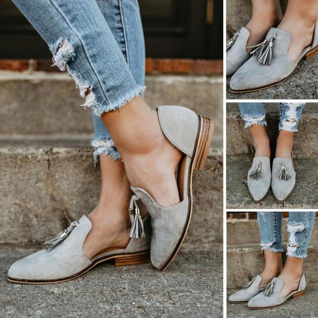 2018 אופנה קיץ נשים נעלי קרסול מוצק גדילים עור רומי אחת נעלי הבוהן מחודדת נשים של סירת נעלי sapato feminino