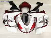 Motorcycle Fairings Kits For Kawasaki ZX6R 636 ZX 6R 2007 2008 07 08 ABS Plastic Injection Fairing Bodywork Kit White Red