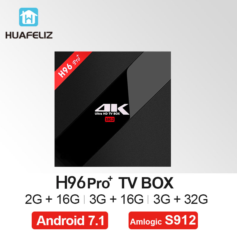 H96 Pro + TV Box Android 7.1 OS BT 4.1Amlogic S912 3GB 32GB Octa Core 2.4GHz+5.0GHz WiFi Mini PC Media Player Smart Set Top Box h96 pro tv box amlogic s912 3gb 32gb octa core android 7 1 os bt 4 1 2 4ghz 5 0ghz wifi mini pc media player smart set top box