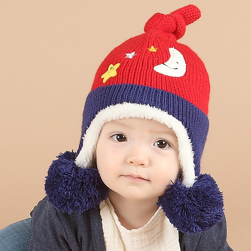 Cute Kids Baby Hats Winter Knitted Hat Pom Poms Warm Bomber Hat Plus Velvet  Baby Cap Casquette-in Hats   Caps from Mother   Kids on Aliexpress.com  a8064ca95fe5