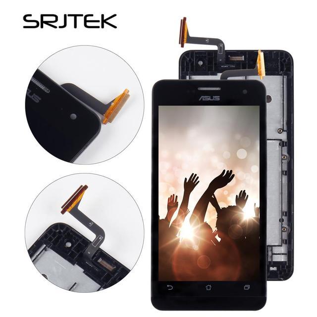 Srjtek screen For ASUS Zenfone 5 A500CG A501CG t00j t00f LCD Display Touch Digitizer Sensor Glass + Frame Full Assembly