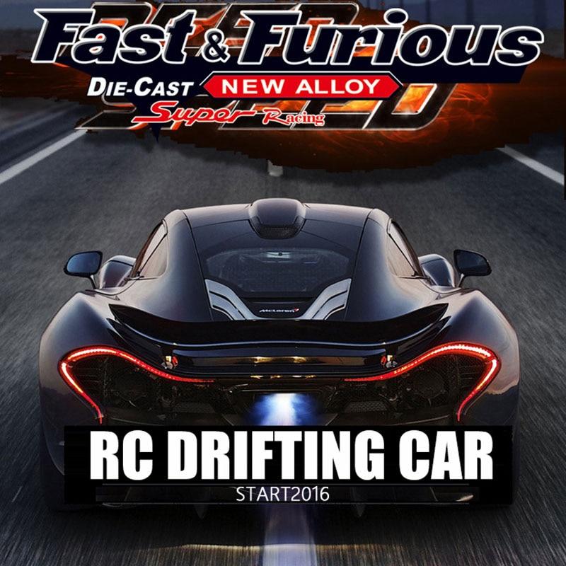 Haute-vitesse RC dérive voiture de course quatre roues motrices sans fil 2.4g radio contrôle voitures télécommande jouets