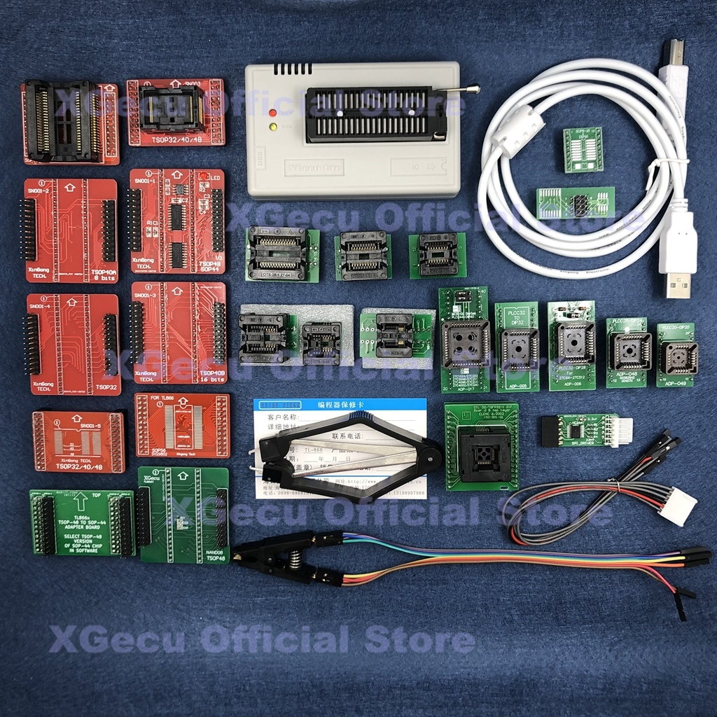 Black socket V8 51 XGecu TL866II Plus USB Programmer support 15000 IC SPI Flash NAND EEPROM