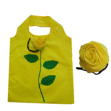 New Cartoon Shopping Bag Lady Foldable Polyester Reusable Rose Grocery Pouch Recycle Organization Customizable LOGO