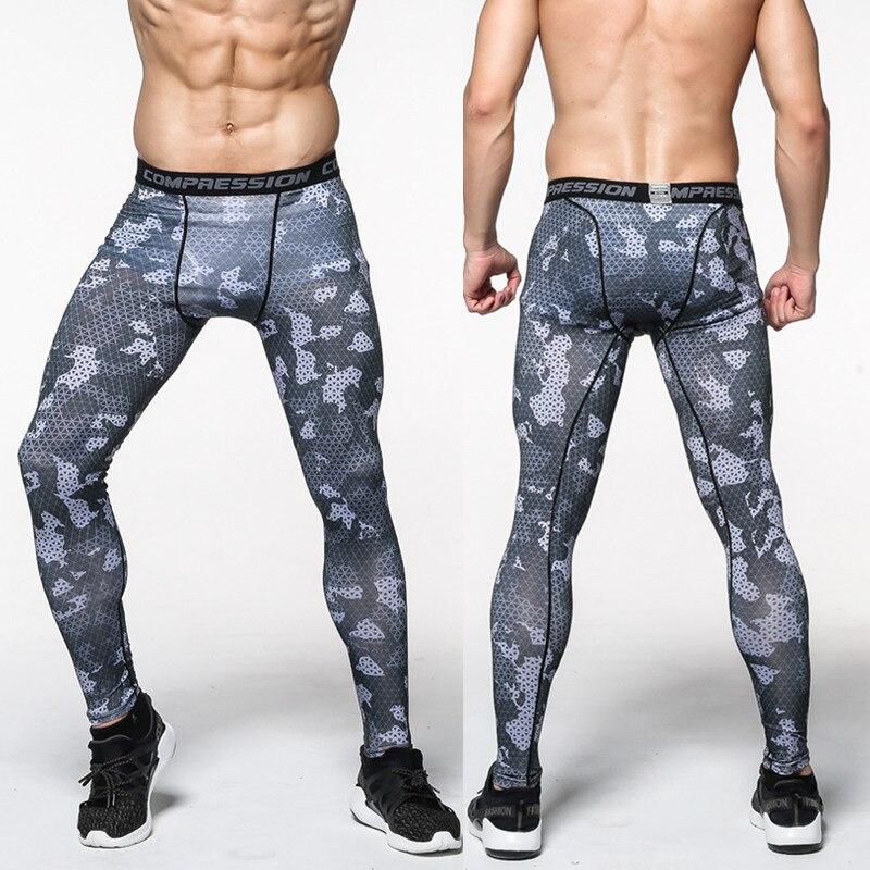 Для мужчин S камуфляж узкие брюки Бег Training сжатия быстросохнущая Тренажерный зал Бег Фитнес Штаны Для мужчин леггинсы ящики Трусики для женщин