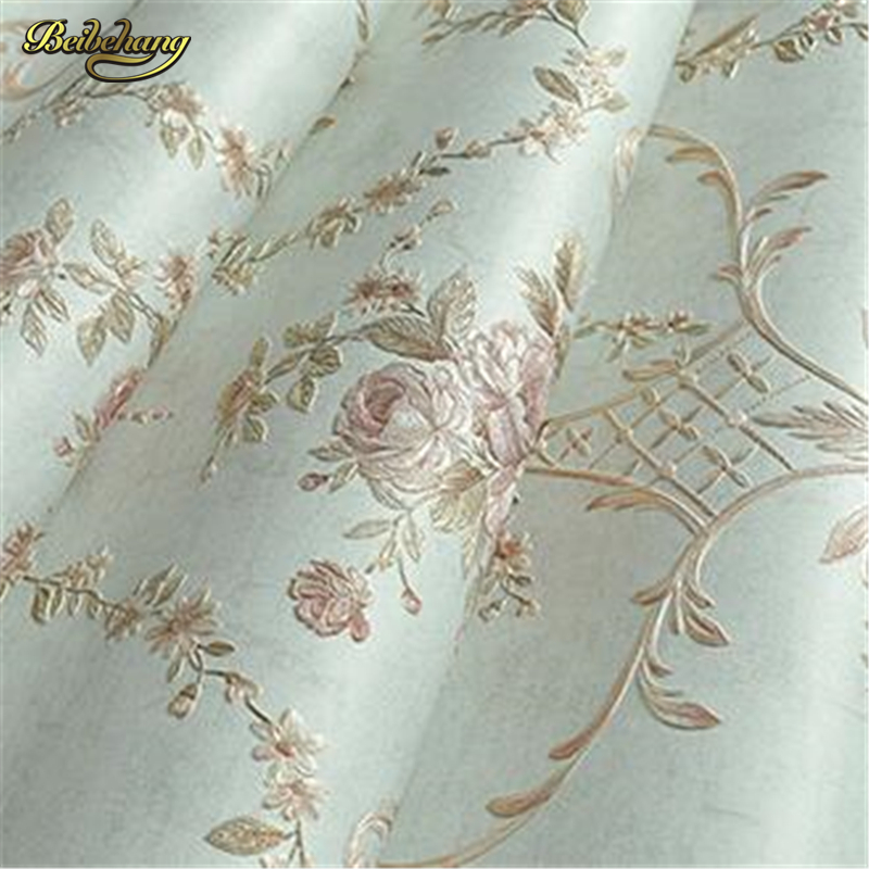 beibehang papel de parede European - style garden wall paper romantic wedding room living room bedroom TV background wallpaper beibehang wall paper papel de parede 3d korean garden flower pink romantic wedding room bedroom wallpaper shop for living
