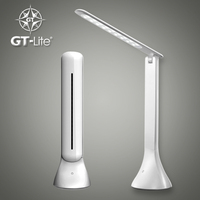 GT Lite LED Desk Lamp Dimmable Touch Control With USB Charging Port Natural Light Portable Folding