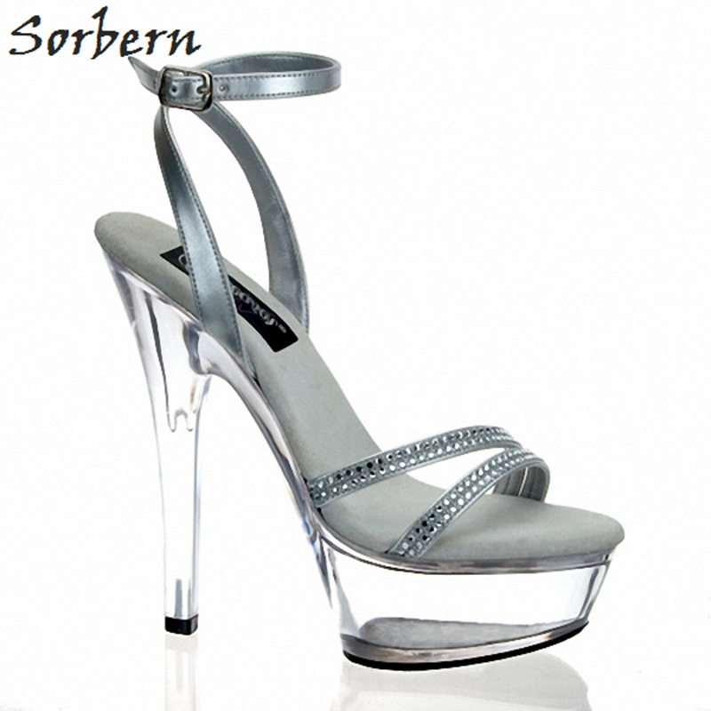 Sorbern Womens Fashion Designer Sandals Strap Up Heels For Women Shoes Rhinestone Platform 5Cm Custom Color Ladies SandaliasSorbern Womens Fashion Designer Sandals Strap Up Heels For Women Shoes Rhinestone Platform 5Cm Custom Color Ladies Sandalias