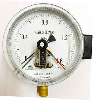 Positive treasure YXC-150 0-1.6Mpa magnetic assisted electric contact pressure gauge M14*1.5 electric contact pressure gauge