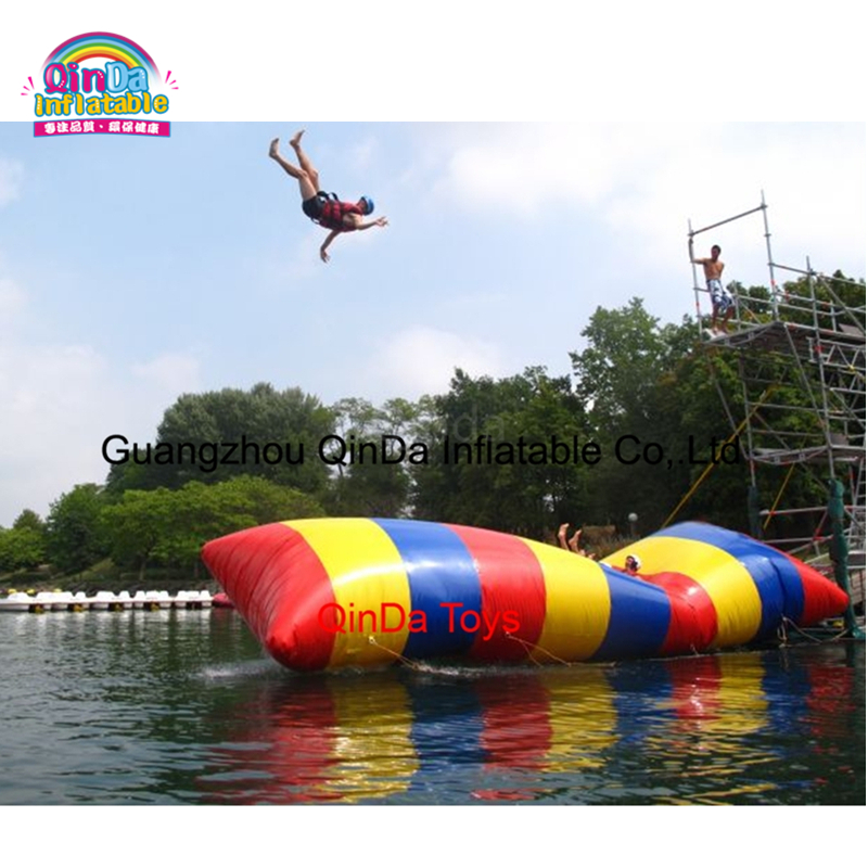 Amusement inflatable water catapult blob, blob body launcher inflatable floating water park