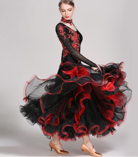 Tango Dress Standard Dance Dresses Viennese Waltz Dress Ballroom ...