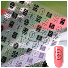 1pc 3d letter Nail Art sticker nail decal gold letters black words character adhesive decals nails decoration diy