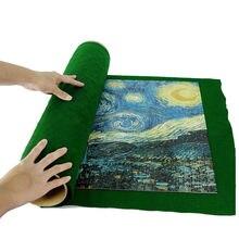 Портативный фланелевый коврик пазл большой 56*82 см для 1000