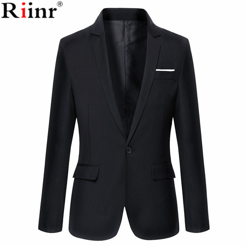 Riinr 2018 Brand Clothing Autumn Suit Blazer Men Fashion Slim Fit Male Suits Casual Solid Color Masculine Blazer Size M-6XL ...