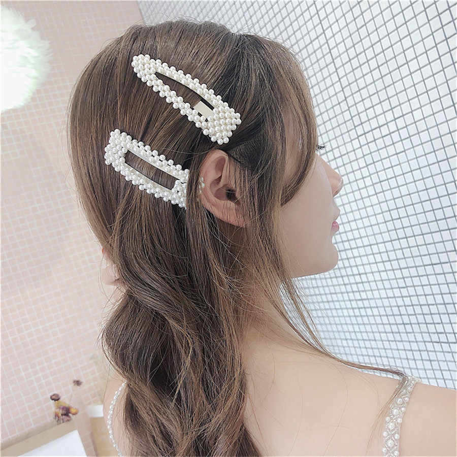 Feito à mão 2 pçs simulado pérola barrettes clipe de cabelo prata ouro grande pente bobby pinos acessórios para o cabelo japão hairgrip headdress 2019