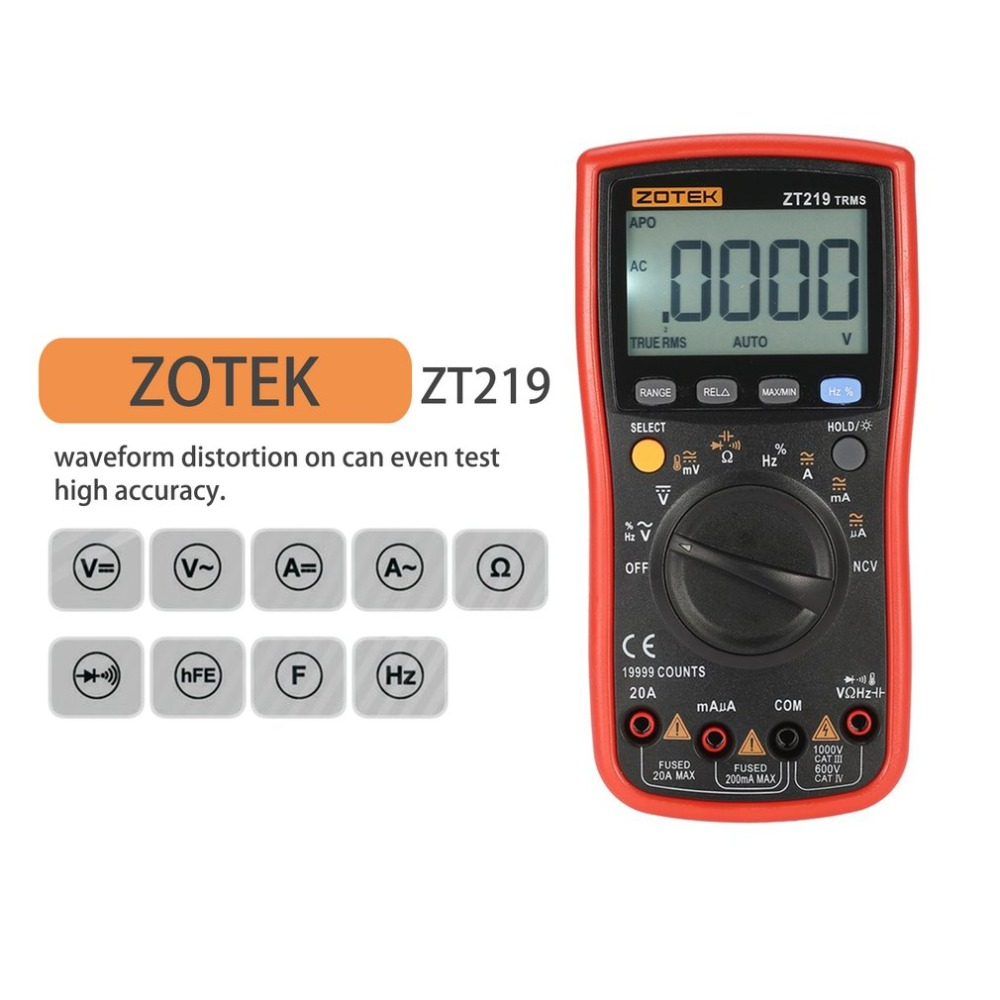 ZT219 Digital Multimeter multimetro mega328 lcr analogico rm409b Transistor esr Meter Multimetre Capacitor Multitester Tester цена