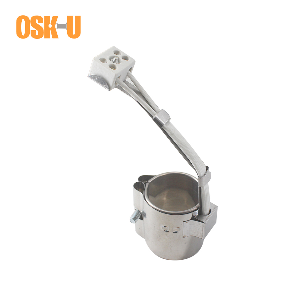 Stainless Steel Band Heater 40mm Inner Diameter 30/35/40mm Height Injected Mould Heating Element Wattage 100/130/150W