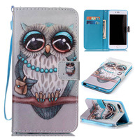 Wallet Style Flip Cover For Iphone 5S SE 6 6S 7 Plus Painting Leather Mobile Phone