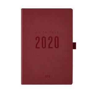 Image 5 - Agendy 2020 planer organizer notatnik i czasopisma A5 pamiętnik zeszyt tygodniowy miesięczny osobisty podręcznik podróży harmonogram notatnik