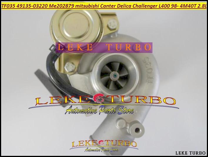Free Ship Turbo TF035-2 49135-03220 ME202879 Turbine Turbocharger For MITSUBISHI Challenger L400 Canter Delica 4M40 4M40T 2.8L free ship turbo rhf5 8973737771 897373 7771 turbo turbine turbocharger for isuzu d max d max h warner 4ja1t 4ja1 t 4ja1 t engine