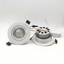 Hot Sale!!! Free Shipping AC 85V-265V COB 10W led recessed light downlight .led spot