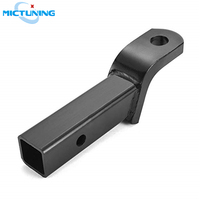 MICTUNING Class III Black Ball Mount for 2 Hitches 2 Drop 3/4 Rise 8 1/2 Long 5000 lbs High Quality Trailer Accessories