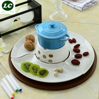 CHAFING DISH CHEESE TOOLS COLORFUL BUFFET CERAM LEISURE COOKING TOOL SET FRUIT CHOCOLATE FONDUE ICE CREAM