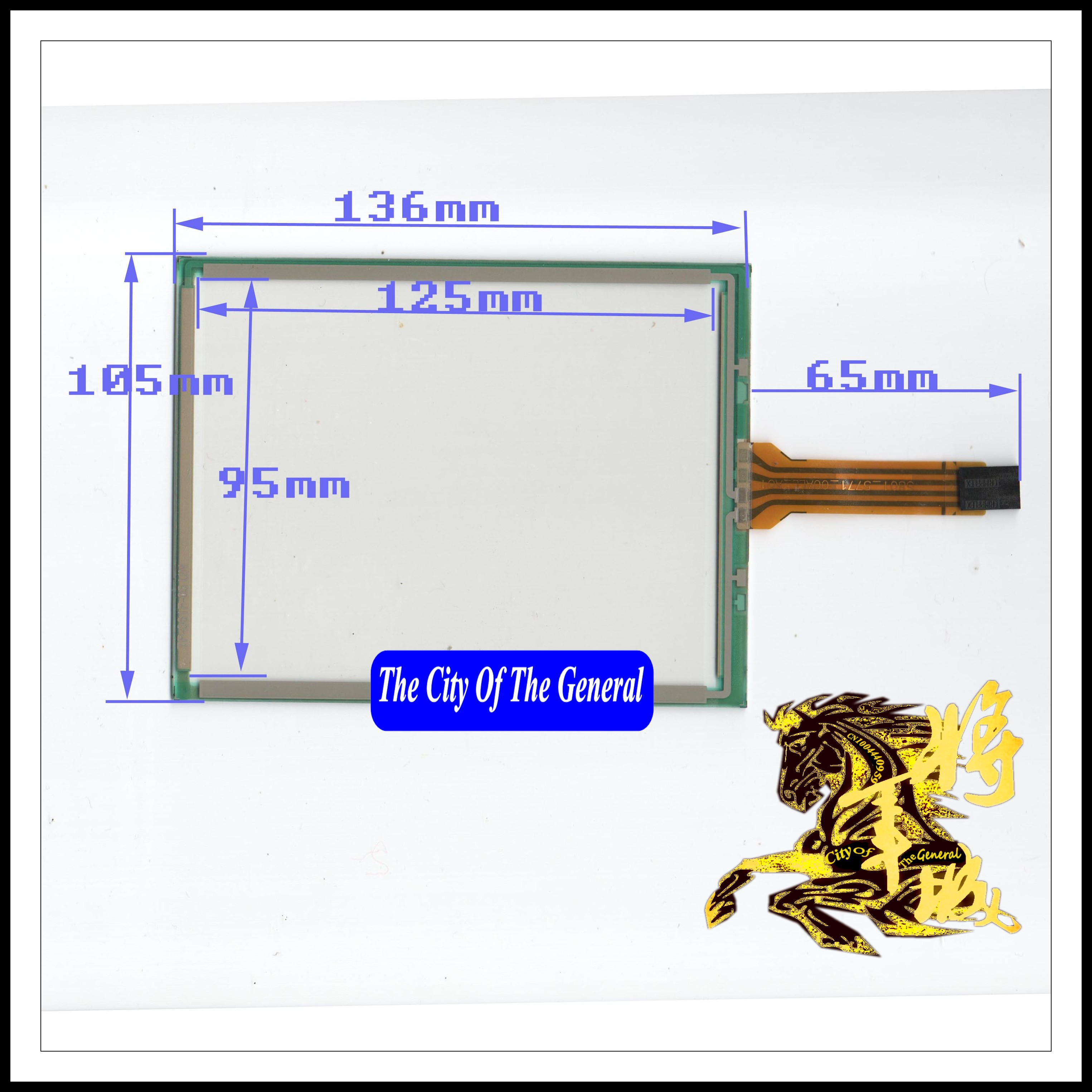 GENCTY For 6.1-inch 136 * 105 four-wire resistive screen W-X