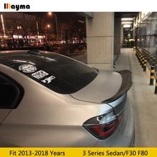 цена на PSM style Carbon Fiber rear trunk spoiler For BMW 3 Series sedan 318i 320i 325i 335i 2013-2018 year F30 F80 M3 Car spoiler Wing