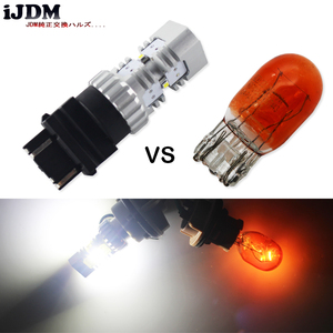 Image 5 - iJDM HID White 3157 LED Powered P27/5W P27/7W T25 LED Bulbs For Daytime Running Lights, DRL For 2011 and up Jeep Grand Cherokee